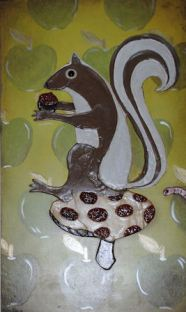 Squirrel and Toadstool-SOLD