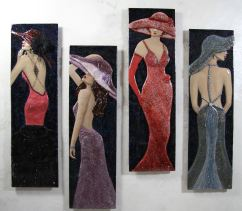 "Streamline Series (12""x42""/panel-set of 4 panels)"