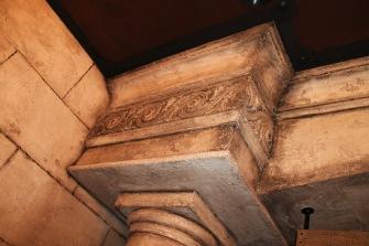 Carved Concrete Column and Pediment